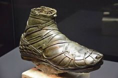 This bronze caliga was part of an over life-size statue of a Roman cavalryman from the or the century CE. Caligae were heavy hob-nailed military boots worn by Roman legionary soldiers, auxiliaries. Ancient Rome, Ancient History, Roman Armor, Life Size Statues, Empire Romain, Roman Sculpture, Roman History, Ancient Artifacts, Roman Empire