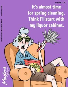 almost time for spring cleaning | Maxine comic for 2015-03-09