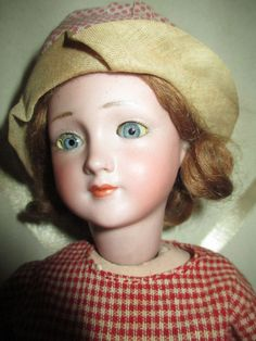 Antique German Bisque ** RARE Simon & Halbig #1468 Flapper **Doll 14 & 1/2 inch