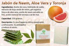 Jabon de Neem, Aloe Vera y Toronja