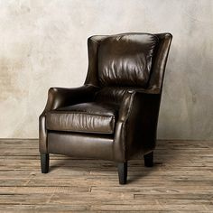 Exceptionnel The Arhaus Vintage Inspired Alex Leather Chair In Old West Vintage Features  Aniline Dyed Premium Leather Fitted To Create A Streamlined Silhouette.