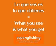 Lo que ves es lo que obtienes = What you see is what you get