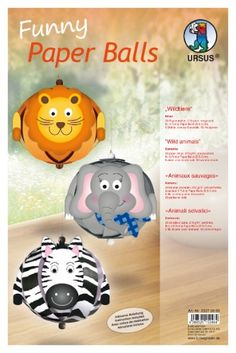 Funny Paper Balls Animaux sauvages