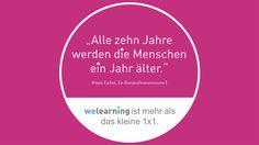 Unsere Lebenserwartung steigt. Ein Grund mehr, mit seinem Job richtig glücklich zu sein.  www.we-learning.com