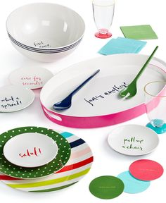 "kate spade new york ""Salut!"" Collection - Serveware - Dining & Entertaining - Macy's"