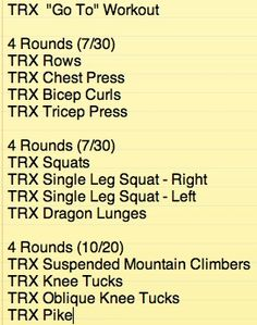 trx total body workout - Google Search