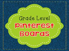 Teach123 - tips for teaching elementary school: Grade level Pinterest boards