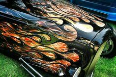 rat rod trucks and cars Air Brush Painting, Car Painting, Custom Paint Jobs, Custom Cars, Motorcycle Paint Jobs, Custom Airbrushing, Airbrush Art, Old Trucks, Dually Trucks
