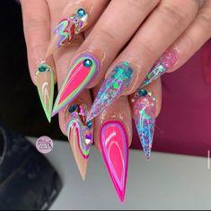 Polygel Nails, Fire Nails, Colorful Nail Designs, Best Acrylic Nails, Simple Nails, Nail Inspo, Spring Nails, Pretty Nails, Nail Colors