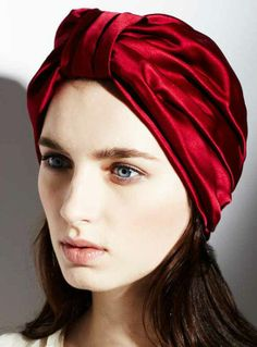 A full silk satin turban headpiece adds glamour and mystique to your wardrobe. Tuck your hair inside the turban for a glamorous sleek appearance, or let hair tumble out the bottom for a bohemian look. And a little bird told us Beyonce just added one to he Mode Turban, Turban Hat, Kate Middleton, Silk Hair, Face Photo, Head Accessories, About Hair, Headgear, My Hair