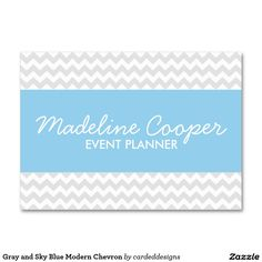 Gray and turquoise modern chevron business card business cards gray and turquoise modern chevron business card business cards pinterest business cards turquoise and business colourmoves