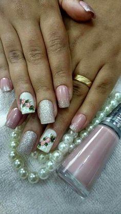 Pretty Nail Designs, Pretty Nail Art, Nail Designs Spring, Toe Nail Designs, Trendy Nails, Cute Nails, Manicure E Pedicure, Nail Decorations, Spring Nails