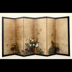 Pair of Late 19th Century Antique Japanese Six Fold Screens (Japan)