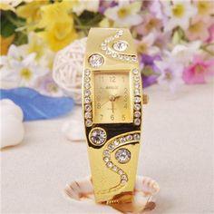 New Hot Fashion Women Bracelet Bangle Imitation Crystal Bracelet Watch Accessories CC0090