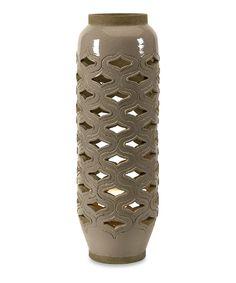 Look what I found on #zulily! Bailey Cutwork Ceramic Lantern by IMAX #zulilyfinds