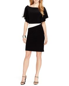 Lauren Ralph Lauren Dress - Color Block Jersey | Bloomingdale's