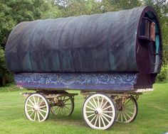 Gypsy caravan on the front lawn at Coolatore House | Flickr