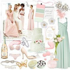 Wedding colour scheme: Blush and green