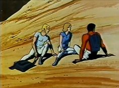 Return to the Planet of the Apes cartoon: Venture crew