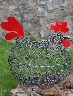 #Fairtrade Handmade Metal Chicken #Egg Basket
