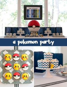 A Pokemon Birthday Party: Awesome Ideas and printable templates for Pokemon-themed Games including Psychic Challenge, Squirtle Balloon Toss, Pokeball Hunt, and Character Portrait Studio.