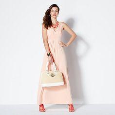 IMAN Global Chic Luxury Resort Glam Maxi Dress