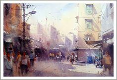 "Amit Kapoor   India Morning at Old Delhi 22""X15"""
