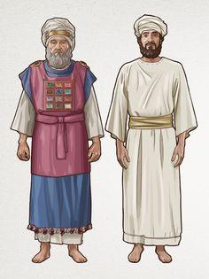 Bible Cartoon, Biblical Costumes, Toddler Bible, Arte Judaica, Bible Mapping, Bible Coloring Pages, Bible Pictures, Biblical Art, Bible Knowledge