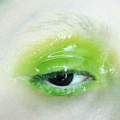 "elizabethjane: "" Chartreuse Jelly Eyes by kelsey annaf """