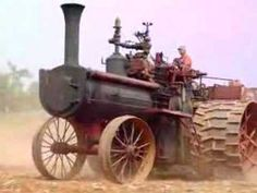 Peerless steam traction engine pulling a 20 bottom plow in Virginia's red clay. Antique Tractors, Vintage Tractors, Vintage Farm, Big Tractors, John Deere Tractors, Chuck 2, Steam Tractor, Tractor Attachments, Tractor Pulling