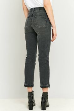 Shop BDG Axyl Worn Black Cropped Slim Straight Jeans at Urban Outfitters today. We carry all the latest styles, colours and brands for you to choose from right here.