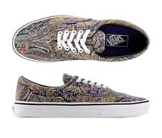 The Paisley Era, a low top lace-up skate shoe, has a durable double-stitched canvas upper with an all-over paisley print,  metal eyelets. This cool paisley sneaker will accompany you from skate park to the shopping mall or school. http://zocko.it/LD9Jl