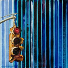 stripes Traffic Light, Wind Chimes, Collage, Stripes, Drawings, Outdoor Decor, Painting, Home Decor, Art