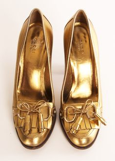 GUCCI HEELS • #gold