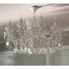 Buy the beautifully designed Chambery Chandelier, by The French Bedroom Company. Ceiling Fan Chandelier, French Chandelier, Chandelier Bedroom, Chandelier Crystals, Crystal Chandeliers, Bedroom Decor For Small Rooms, Bohemian Bedroom Decor, Bedroom Inspo, Glass Necklace