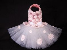 Couture Sweet Baby Party Ballerina Tutu Harness Dog Dress Pet clothes #1211TT27