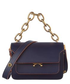 Marni Mini Calf Skin Trunk Shoulder Bag