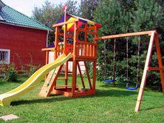 Детская площадка с натуральным покрытием требует особого ухода