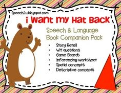 """This is one of my favorite books-I love to use it to teach early inferencing.  This product is a book companion for the pictures story book, """"I Want My Hat Back"""" by Jon Klassen.  You will need his book in order to use this packet.  This packet uses minimal color so you can save on ink!  2 Worksheets focusing on InferencingGuiding QuestionsWH Question game with 54 questions (who, what, where, when, why and how.)  Story retell activities including directions for making your own hat AND stick…"""