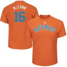 "Brian McCann ""McCann"" Houston Astros Majestic 2017 Players Weekend Name & Number T-Shirt - Orange"