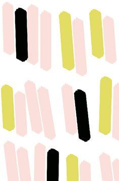 linear graphic art. blush + black + chartreuse #ashleygoldberg