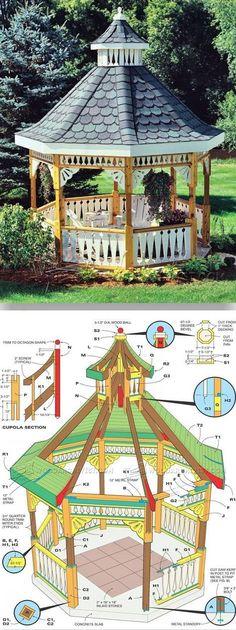 DIY Gazebo - Outdoor Plans and Projects | WoodArchivist.com #woodworkingplans