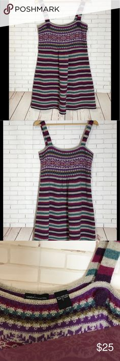 Victoria's Secret Moda Dress Size Large Victoria's Secret Moda International Striped Dress Size Large. 100 % Lambs Wool Victoria's Secret Dresses
