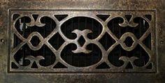 custom grill, air vent cover, air return register cover in a renaissance custom design