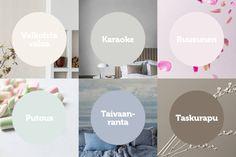 Unelmien värit 2020: Talvi | Värisilmä Karaoke, Karma, Chart, Colours, Decoration, Decor, Decorations, Decorating, Dekoration