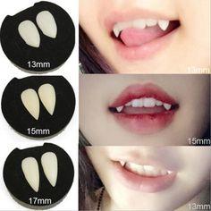 2Pc Horrific Vampire Teeth Zombie Devil Fangs Dentures With Dental Gum Halloween #ebay #Fashion