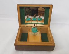 80s Musical Jewelry Box Dancer Jewelery Box by WitchOfVintage