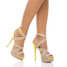 I wish these weren't a 4.25 inch heel so I could actually walk in them...then I would totally buy :)