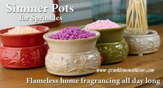 make your own candle and fragrance with sprinkles. bedroom, kitchen, bathroom.  wickless