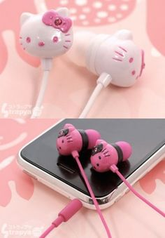 Ear buds-saw Hello kitty and Puma ones at Beat buy yesterday!